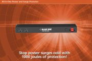 BLACKBOX-SPT930  All-in-One Power and Surge Protector, 9.8-ft. (3-m) Power Cord  6埠電源分配器附突波保護, 含1埠RJ-11, RJ-45產品圖