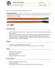 LAPP- ÖLFLEX® HEAT 180 SiHF 工業級(超柔移動式耐熱防磨損 化學) 連接線 Silicone cables with extended temperature range-50°C up to +180°C
