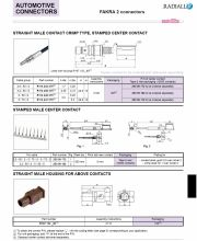 Radiall-R114 242 375 STRAIGHT MALE CONTACT CRIMP TYPE, STAMPED CENTER CONTACT 直線型 (公) 歐規 車用連接頭產品圖