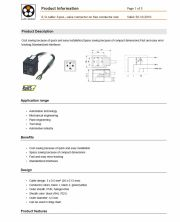 LAPP-S/A cable: 3-pos., valve connector on free conductor end 工業級電腦連接線 3-pos. connector產品圖