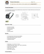 LAPP-S/A cable: 5-pos., valve connector on free conductor end, for pressure switch 工業級電腦連接線 5-pos. valve plug產品圖