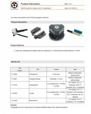 LAPP-EPIC® Tools for contacts MC Coax 工業用接頭 For inserts and modules of the EPIC® rectangular connectors產品圖