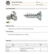 LAPP-EPIC® Fixing screws 工業用接頭配件Helpful accessories for an effective use of EPIC® rectrangular connectors產品圖
