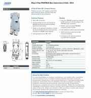Lumberg-0976 PMC 515 Plug & Play PROFIBUS Bus Connectors D-Sub / M12 9-Pole (D-Sub) 180° Compact Version 接頭插座產品圖