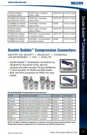 ICM-DB59RCAU Double Bubble™ Compression Connectors RG59 RCA RG59同軸電纜RCA擠壓式 接頭產品圖