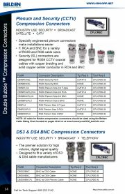 ICM-DB59RCAPL2/3/4  Double Bubble™ connector RG59 Plenum Size 2/4 RCA RG59 同軸電纜RCA擠壓式 接頭產品圖
