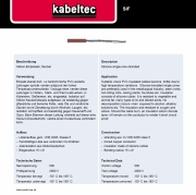 Kabeltec-SIF Silicone single-core stranded VDE 0295 class 5 500V 180° C 歐規 VDE 矽橡膠耐高溫電線產品圖