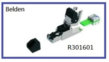 BELDEN-R301601 Connectors - DataTuff® Industrial Ethernet Ruggedized Plug Kit T568B Cat 6A AWG 22-24 UTP/STP IP20 工業等級乙太網路RJ45接頭模塊產品圖