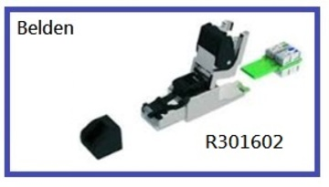 BELDEN-R301602 Connectors - DataTuff® Industrial Ethernet Ruggedized Plug Kit T568B Cat 6A AWG 22-24 UTP/STP IP20 工業等級乙太網路RJ45接頭模塊產品圖
