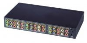 YSCT-YS04MA 4進2出分量視頻&立體音頻矩陣切換器 4 Input 2 Output Component Video Switcher With Stereo Audio產品圖