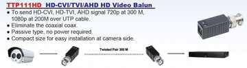 TTP111HD HD-CVI/TVI/AHD HD Video Transceiver (BALUN) 被動式高清影像傳輸器產品圖