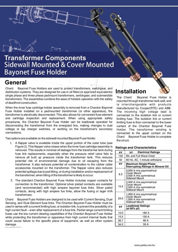 Sidewall Mounted Fuse Holder Assembly Cover Mounted Fuse Holder Assembly 變壓器 側壁安裝保險絲座組件產品圖