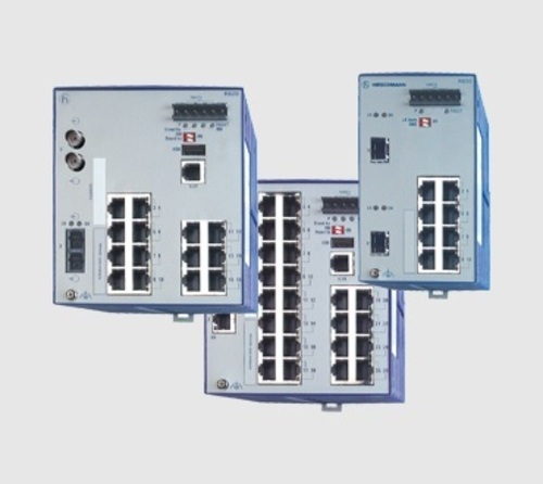 BELDEN, Hirschmann, Managed Industrial Ethernet DIN Rail Switches - RS20/30/40 Series 赫斯曼 網管型工業以太網DIN導軌交換器產品圖