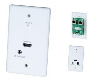 HW01 嵌入式HDMI & IR紅外線雙絞線延長器 Wall Plate HDMI & IR CAT5 Extender產品圖
