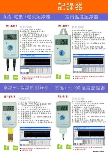 R1-4011 Temperature Data Logger(Recorder) 環境溫度記錄器產品圖