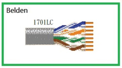 BELDEN 1701LC Multi-Conductor - Enhanced Category 5e Bonded-Pair Cable 超五類無隔離UTP乙太網路線 Bonded-Pair產品圖
