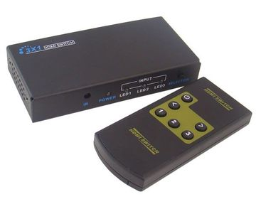 LENKENG-LKV331 3x1 HDMI Switch - HDMI 1.3 LKV331MINI HDMI切換器迷你版三進一出產品圖