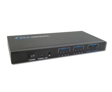 LENKENG-LKV342 4x2 HDMI Matrix Switch with Remote Control HDMI矩陣視頻切換器4X2產品圖