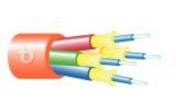 Teldor-95B3RFF04C Fiber Optic 4 Fiber Breakout OFNR Cable 4芯緊式室內光纖電纜產品圖