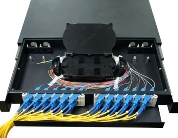 ODF-RS12-A45 Fiber Optic Patch Panel(Slidable type) 光纖机架箱-抽拉式產品圖